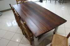 Reclaimed Pine Finish 8,10,12 seater Dining Table, Chunky 44mm top up to 107cm.