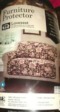 NEW Brown Floral Quilted LOVESEAT Cover Throw Slipcover Vivianne