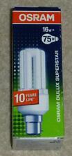 Osram DULUX Superstar Lámpara Ahorro De Energía 16 W B22d Blanco Cálido Hecho En Alemania Nuevo