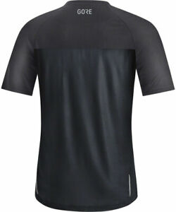 GORE® Wear Trail Short Sleeve Shirt - Black/Terra Grey, Men's, Large