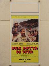 UNA BOTTA DI VITA regia Enrico Oldoini locandina originale 1988