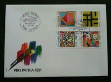 Switzerland Pro Patria Art Painting 1991 Culture Brush Color (stamp FDC)