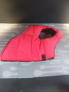Gooby Padded Dog Vest # X-Large Red with D hooks zipper back