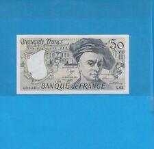 50 Francs  QUENTIN DE LA TOUR  1991 Alphabet E.63 Billet numéro 1554405301