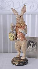 Stupendo orologio da tavolo bianca conigli orologio da tasca Alice nel paese delle meraviglie orologio