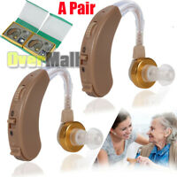 A Pair of Digital Hearing Aid Aids Kit Behind the Ear BTE Sound Voice Amplifier