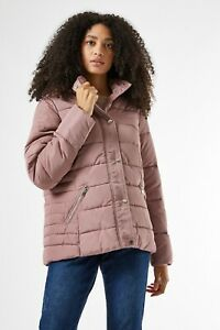 Brand New ex Dorothy Perkins Tall Blush Padded Hooded Coat RRP £40 Sizes 14-22