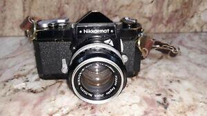 Nikon Nikkormat Camera w/ Nikkor-S Auto 1:1.4 f=50mm Lens