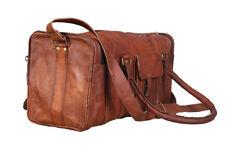 Bag Leather Dufflel Travel Men Gym Luggage Genuine Overnight Mens Vintage Duffel