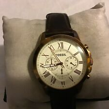 Fossil Men's Grant Stainless Steel Chronograph Watch, FS4991 New Battery