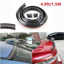 Carbon Fiber 1.5M Car Body Trunk Rear Roof Lip Spoiler Wing Trim Mould Sticker