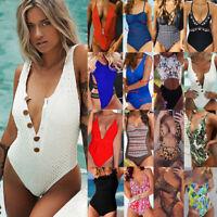 Womens One Piece Swimming Costume Swimsuit Ladies Swimwear Bikini Beach Monokini