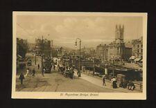Glos Gloucestershire BRISTOL St Augustine's Bridge Tram pre1919 PPC