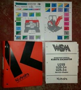 Kubota U25S U20-3 U25-3 Excavator Service Workshop Manual COMPLETE ORIGINAL!