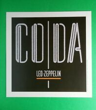 Led Zeppelin Coda Black Grey Orange Square Mini Poster 8x8 Music Lithograph