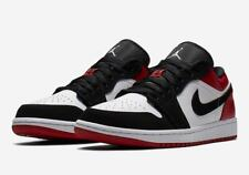 995b9af30729 2019 Nike Air Jordan Retro I 1 Low SB Black Toe White Gym Red 553558-