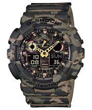 Casio G-Shock Analogue/Digital Mens Green Camo Watch GA100CM-5A GA-100CM-5ADR