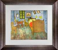 "Vincent Van GOGH Lithograph Ltd. Ed. ""...bedroom at Arles"" 1937 w/Archival Frame"