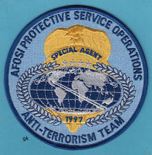 AFOSI ANTI-TERRORISM TEAM SPECIAL AGENT US AIR FORCE SHOULDER  PATCH NICE