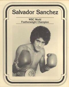 SALVADOR SANCHEZ 8X10 PHOTO BOXING PICTURE FEATHERWEIGHT CHAMP