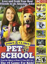Paws & Claws Pet School - Dog Cat Pony Fun Windows PC Computer Game - BRAND NEW