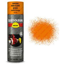 x 15 INDUSTRIEL Rust-Oleum Pastel Orange Peinture aérosol solide CHAPEAU 500ml