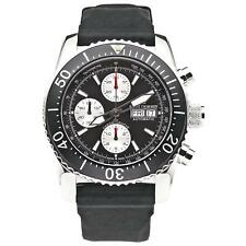 Revue Thommen Men's 45mm Rubber Band Steel Case Automatic Watch 17030.6537