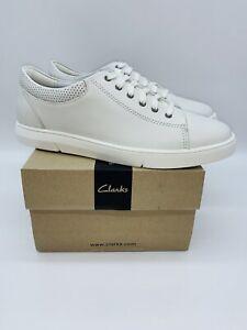 Clarks Men's Landry Vibe Lace Up Sneakers White - Pick Size