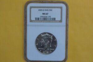 2005 D Kennedy Half Dollar NGC SMS MS67