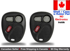 2x New Replacement Keyless Remote Key Fob For Chevy Cadillac GMC - Shell Only