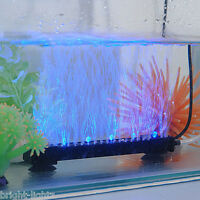 LED AQUARIUM FISH TANK LIGHTS AIR STONE BUBBLE SUBMERSIBLE UNDER WATER BLUE