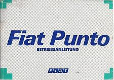 FIAT PUNTO 1 Gen Betriebsanleitung 1996 Bedienungsanleitung Handbuch Bordbuch BA