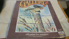 VINTAGE 1980 GALLERY 2 PAINT BY NUMBER SET, #23703 MORNING, BIRD ON FENCE