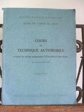 █ TROUPES FRANCAISE D'OCCUPATION COURS de TECHNIQUE AUTOMOBILE WW2 ROGER MON █
