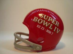 (1) Kansas City Chiefs (Super Bowl IV) Riddell Pocket Pro Football Helmet