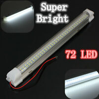 B9E5 7AEB 2.5W 72 LED Auto Car Van Bus Caravan Light Bar Lamp with On/Off Switch