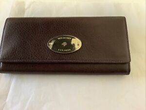 Mulberry Oxblood Continental Leather Purse Wallet Brand New , Mulberry & Receipt