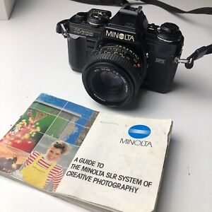 NICE Minolta X-700 35mm SLR Film Camera w/MD 50mm 1:2 Lens TESTED