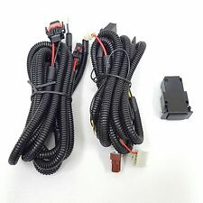 12V 30A Fog Light Wiring Harness Relay Kit ON/OFF Switch H11 H8 H9 2 Plugs Wire