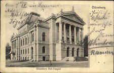 OLDENBURG Hof-Theater alte Postkarte 1904 gelaufen nach Stadthagen mit Stempel