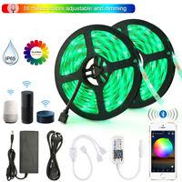 10m 5050 SMD RGB LED Stripe Leiste Streifen Band WiFi Bluetooth Controller Trafo