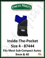 UNCLE MIKE'S Inside the Pocket Holster-Size 4 (Sub-Compact Autos 9 & 40) - 87444