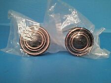 Cabinet Door Knobs Set of 2 Black with Copper Color Accent