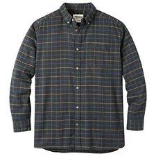 Mountain Khakis Men's Downtown Flannel Shirt, Black, Small