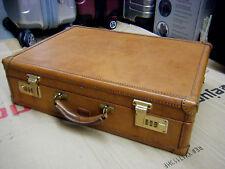 Auth-HARTMANN-Diplomat-Belting-Leather-Briefcase-File-Hard-Case-Bag-Mens-Vtg-
