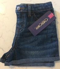 Cherokee Girl's Rolled Cuff Shorts - Dark Blue - Size: 6