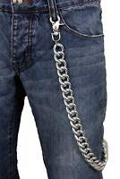 Men Women Silver Metal Wallet Chain Jeans Biker Rocker Biker Links Thick Ch N3Z1