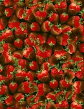 Food Fabric - Chocolate Covered Strawberry Packed - Timeless Treasures YARD
