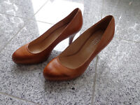 5TH Avenue Damen Pumps Gr: 36; Hellbraun; Echtleder