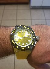 New Yellow Invicta 50mm Automatic Pro Diver Master of the Oceans